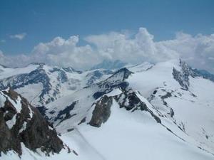 Uitzicht vanaf de Kitzsteinhorn