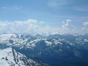 Uitzicht vanaf de Edelweissspitze