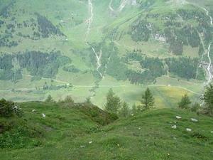 Uitzicht op het Ferleiten dal