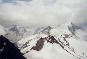 Uitzicht van af de Kitzsteinhorn (3203 m)